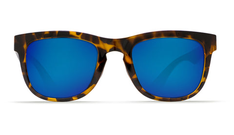 Costa - Copra  Retro Tortoise + Black temples Sunglasses / Blue Polarized Plastic Lenses