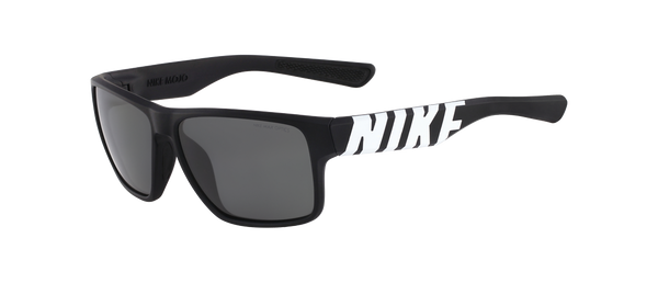 Nike - Mojo EV0784 Matte Black White Sunglasses / Grey Lenses