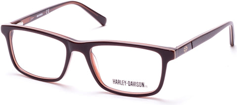 Harley-Davidson - HD0133T Shiny Dark Brown Eyeglasses / Demo Lenses