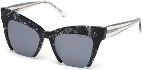Marciano - GM0785 Black Sunglasses / Smoke Mirror Lenses
