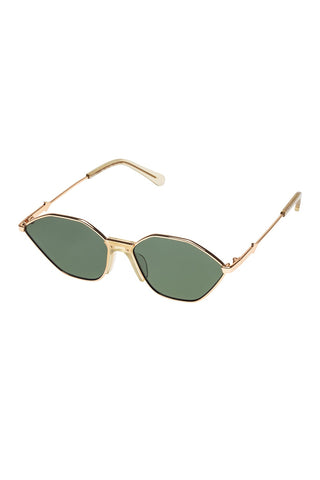 Karen Walker - Game Golden Light Sunglasses / Green Mono Lenses