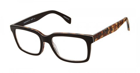 Scojo New York - Gardiner Street Black Auburn Canyon Reader Eyeglasses / +1.00 Lenses