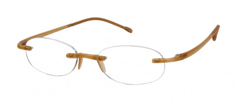 Scojo New York - Gels Frosted Gold Reader Eyeglasses / +1.50 Lenses