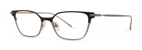 Seraphin - Brighton Black + Pale Gold Eyeglasses / Demo Lenses