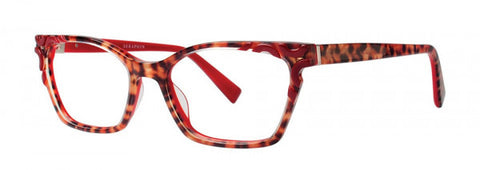 Seraphin - Meadow Burgundy Leopard Eyeglasses / Demo Lenses
