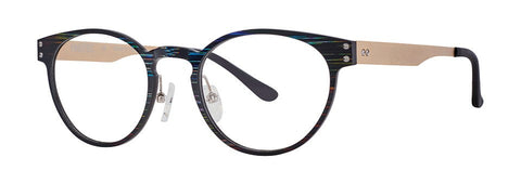 Red Rose - Langley Meteor Black Eyeglasses / Demo Lenses