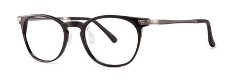 Red Rose - Ward Burnished Black Eyeglasses / Demo Lenses