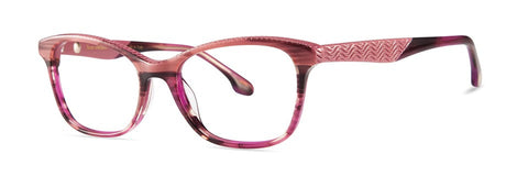 Bon Vivant - Lisette Striped Pearly Purple Brown Eyeglasses / Demo Lenses