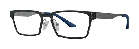 Red Rose - Rutledge Black Wood Eyeglasses / Demo Lenses
