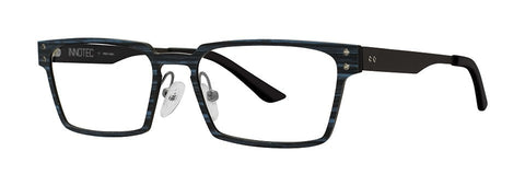 Red Rose - Rutledge Navy Wood Eyeglasses / Demo Lenses