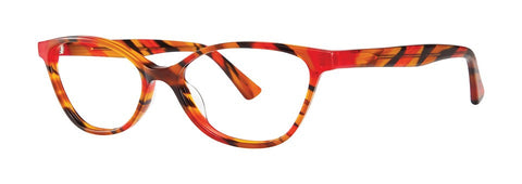 OGI - 9106 Orange Red Black Streak Eyeglasses / Demo Lenses