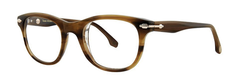 Bon Vivant - Roland Terra Brown Horn Eyeglasses / Demo Lenses