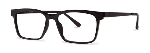 Red Rose - Warner Black Eyeglasses / Demo Lenses