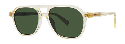 Seraphin - Marigold White Sunglasses / Green Lenses