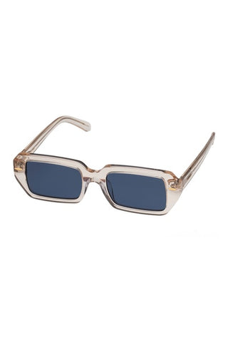 Karen Walker Monumental - Ginsberg Vintage Clear Sunglasses / Navy Mono Lenses