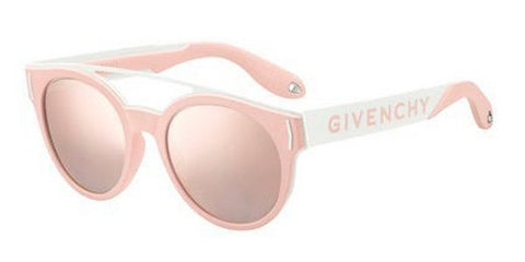 Givenchy - Gv 7017 N S Pink White Green Red Sunglasses / Gray Rose Gold Lenses