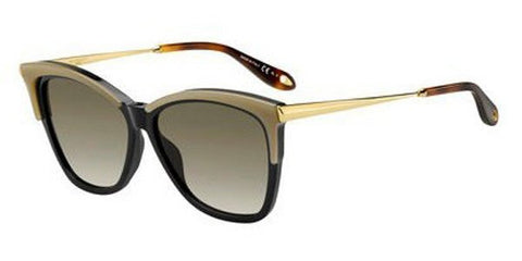 Givenchy - Gv 7071 S Yellow Black  Sunglasses / Brown Gradient Lenses