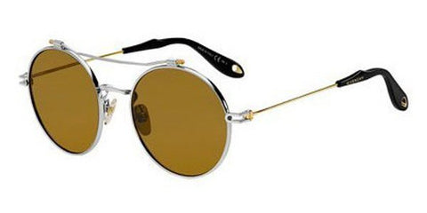 Givenchy - Gv 7079 S Silver Gold Sunglasses / Brown Lenses