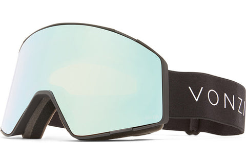 VonZipper - Capsule Black Satin Snow Goggles / Wild Stellar Chrome + Wildlife Yellow Lenses