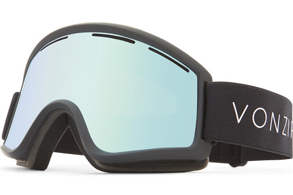 VonZipper - Cleaver Black Satin Snow Goggles / Wildlife Stellar Chrome Lenses