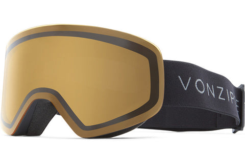 VonZipper - Encore Black Satin Snow Goggles / Wildlife Yellow Lenses