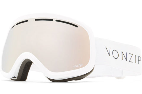 VonZipper - Skylab White Gloss Snow Goggles / Wildlife Gold Chrome Lenses