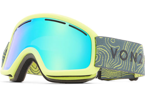 VonZipper - Trike Lime Satin Snow Goggles / Wildlife Quasar Chrome Lenses