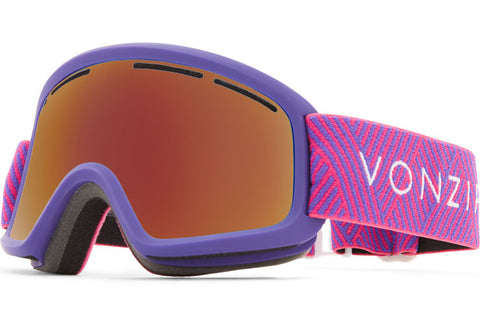 VonZipper - Trike Purple Satin Snow Goggles / Wildlife Black Fire Chrome Lenses