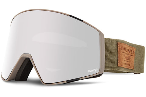 VonZipper - Capsule S.I.N Clay Satin Snow Goggles / Wild Silver Chrome + Wildlife Yellow Lenses