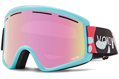 VonZipper - Cleaver B4BC Mint Satin Snow Goggles / Wild Pink Chrome + Wildlife Yellow Lenses