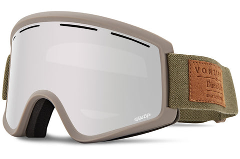 VonZipper - Cleaver Clay Satin Snow Goggles / Wild Silver Chrome + Wildlife Yellow Lenses