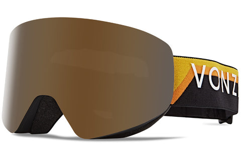 VonZipper - Encore Black Yellow Snow Goggles / Wild Bronze Flash Chrome Lenses