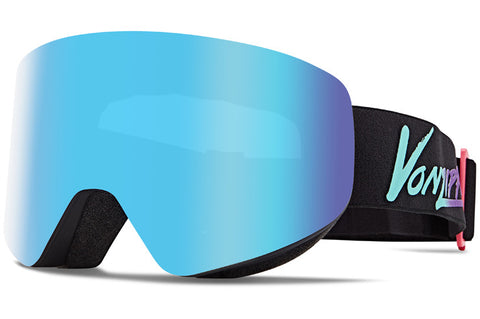 VonZipper - Encore Neo Miami Black Satin Snow Goggles / Wild Quasar Chrome Lenses