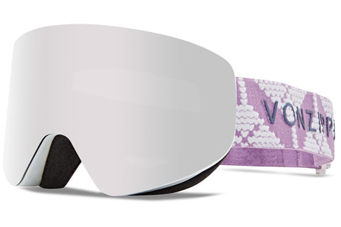 VonZipper - Encore Cable Knit White Satin Snow Goggles / Wild Silver Chrome Lenses
