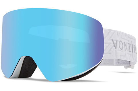 VonZipper - Encore White Gloss Snow Goggles / Wild Stellar Chrome Lenses