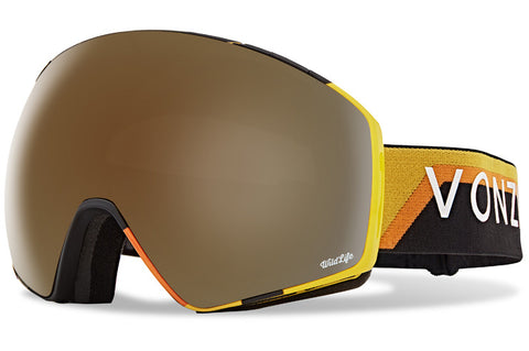 VonZipper - Jetpack Black & Yellow Snow Goggles / Wild Bronze Flash Chrome Lenses