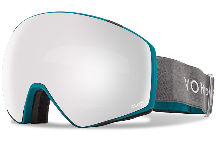 VonZipper - Jetpack Color Block Teal Satin Snow Goggles / Wild Silver Chrome Lenses