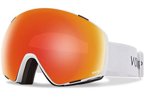 VonZipper - Jetpack White Gloss Snow Goggles / Wild Fire Chrome Lenses