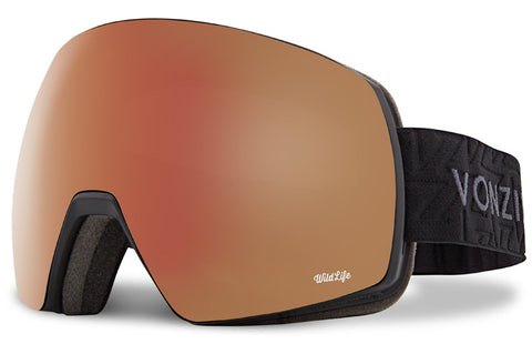VonZipper - Satellite Black Gloss Snow Goggles / Wild Black-Fire Chrome Lenses