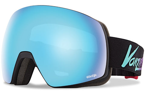 VonZipper - Satellite Neo Miami Black Satin Snow Goggles / Wild Quasar Chrome Lenses