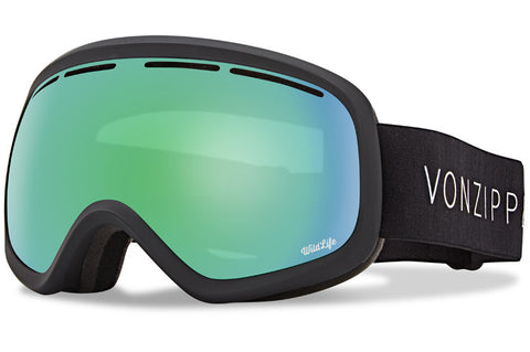 VonZipper - Skylab Black Satin Snow Goggles / Wild Quasar Chrome Lenses