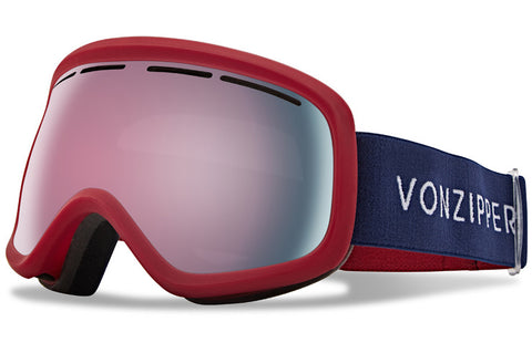 VonZipper - Skylab Color Black Brick Satin Snow Goggles / Wild Midnight Rose Chr Lenses