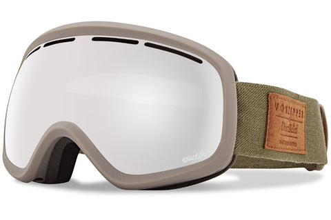 VonZipper - Skylab S.I.N. Clay Satin Snow Goggles / Wild Silver Chrome Lenses
