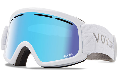 VonZipper - Trike White Gloss Snow Goggles / Wild Stellar Chrome Lenses