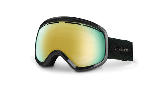 VonZipper Trike Black Orange Pink BTA Goggles, Chrome Lenses