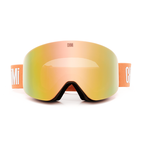 CHiMi - Ski Peach Snow Goggles / Peach Yellow Gradient Lenses