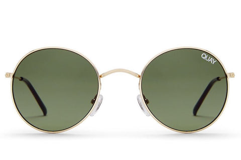 Quay Mod Star Gold / Green Sunglasses