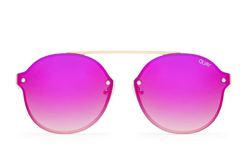 Quay Camden Heights Gold / Pink Sunglasses