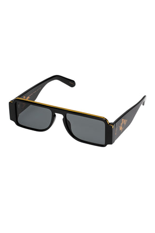 Karen Walker - Grand Master Black Sunglasses / Green Mono Lenses
