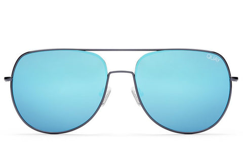 Quay Living Large Gunmetal / Blue Sunglasses